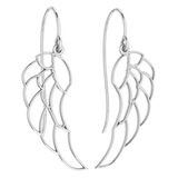 Gold Wire Hook Earrings 18K White Gold Made In Italy