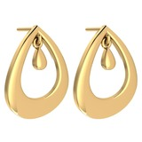 Gold MADE IN ITALY Styles Stud Earrings For beautiful ladies 14k Yellow Gold MADE IN ITALY