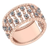 Certified 0.66 Ctw Diamond VS/SI1 Engagement 14k Rose Gold MADE IN USA Halo Ring MADE IN USA (VS/SI1