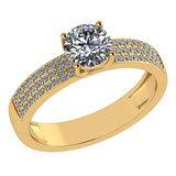 Certified 0.97 Ctw Diamond 14k Yellow Gold Ring (VS/SI1)