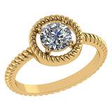 Certified 1.00 Ctw Diamond 14k Yellow Gold Ring (VS/SI1)