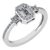 Certified 0.55 Ctw Diamond 14k White Gold Ring (VS/SI1)