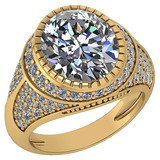 Certified 3.00 Ctw Diamond VS/I1 Halo Ring For 14K Yellow Gold