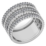 Certified 0.64 Ctw Diamond Ladies Fashion Engagement 14k White Gold MADE IN USA Halo Ring MADE IN US