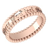 Gold MADE IN ITALY filigree Bands For beautiful ladies 14k Rose Gold MADE IN ITALY