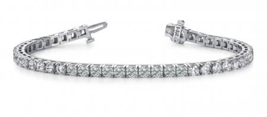 14K WHITE GOLD 2 CTW G-H I1/I2 DIAMOND DREAMS TENNIS BRACELET