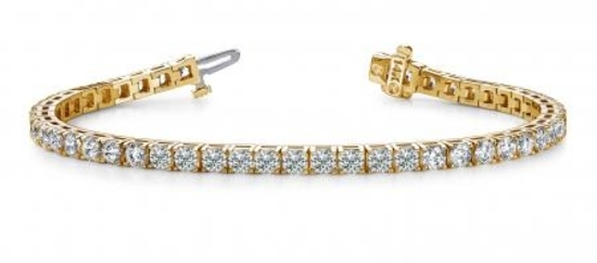 14K YELLOW GOLD 2 CTW G-H I1/I2 DIAMOND DREAMS TENNIS BRACELET