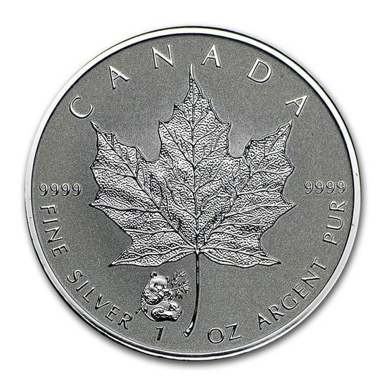 2016 Canada 1 oz. Silver Maple Leaf Reverse Proof Panda Privy Mark