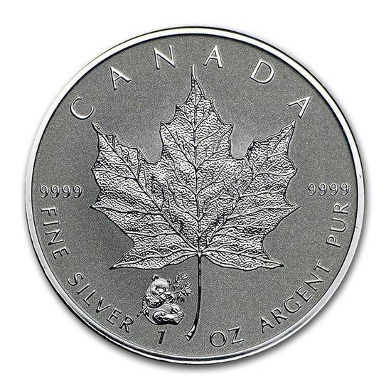 2016 Canada 1 oz. Silver Maple Leaf Reverse Proof Panda Privy Mark