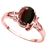 1.28 CT REDISH GARNET AND ACCENT DIAMOND 0.01 CT 10KT SOLID RED GOLD RING