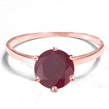 1.28 CT RUBY 10KT SOLID RED GOLD RING
