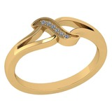 Certified 0.03 Ctw Diamond 14k Yellow Gold Halo Ring