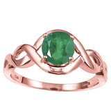1.15 CT EMERALD 10KT SOLID RED GOLD RING
