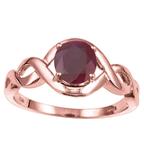 1.35 CT RUBY 10KT SOLID RED GOLD RING