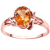 0.88 CT AZOTIC MYSTIC QUARTZ AND ACCENT DIAMOND 0.01 CT 10KT SOLID RED GOLD RING