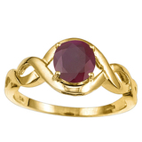 1.35 CT RUBY 10KT SOLID YELLOW GOLD RING