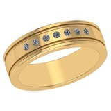 Certified 0.10 Ctw Diamond 14k Yellow Gold Halo Band