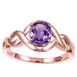 1.03 CT AMETHYST 10KT SOLID RED GOLD RING