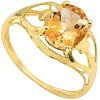 1.35 CT DARK CITRINE 10KT SOLID YELLOW GOLD RING