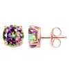 1.49 CT MYSTIC QUARTZ 10KT SOLID ROSE GOLD EARRING