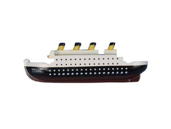 RMS Titanic Wooden Model Ship Decorative Kitchen Magnet 4in.