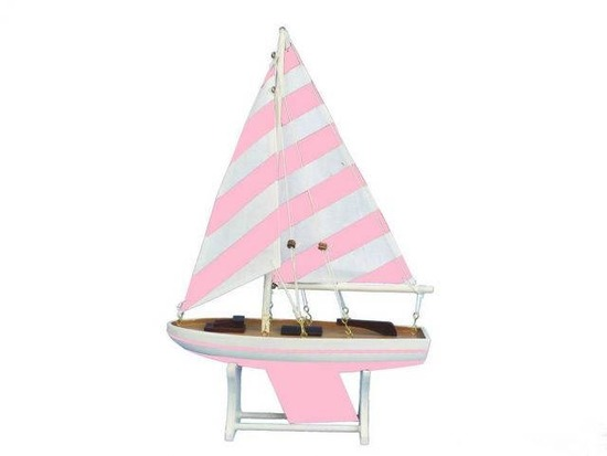 Wooden It Floats Mermaid Princess Model Sailboat 12in.