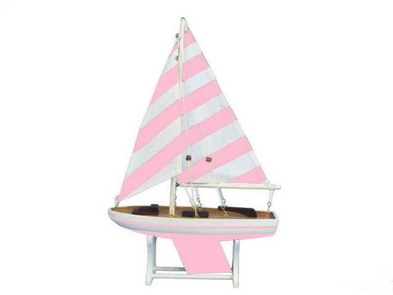 Wooden It Floats Mermaid Princess Model Sailboat 12in.