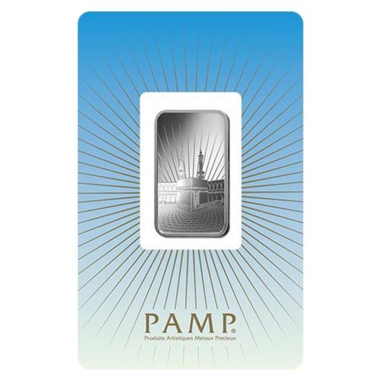 PAMP Suisse Silver Bar 10 Gram - Ka?bah Mecca