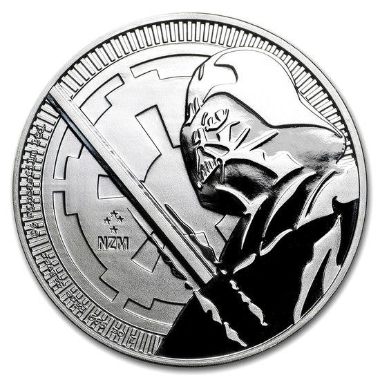 2018 1 oz Niue Darth Vader Lightsaber Star Wars Silver Coin