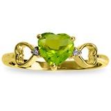 0.96 Carat 14K Solid Gold Not Sugarcoated Peridot Diamond Ring