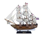 Wooden Charles Darwins HMS Beagle Tall Model Ship 20in.