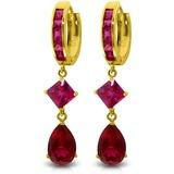 7.72 Carat 14K Solid Gold Stunner Cubic Zirconia Earrings