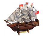 Wooden HMS Bounty Tall Model Ship 7in.