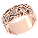 Certified 0.25 Ctw Diamond VS/SI1 14K Rose Gold Band Ring Made In USA