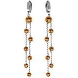 9.02 Carat 14K Solid White Gold Chandelier Earrings Citrine