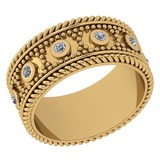 Certified 0.25 Ctw Diamond VS/SI1 14K Yellow Gold Band Ring Made In USA