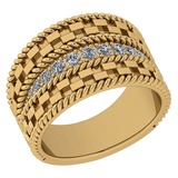 Certified 0.24 Ctw Diamond VS/SI1 14K Yellow Gold Band Ring Made In USA