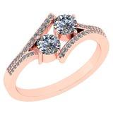 Certified 1.16 Ctw Diamond 14k Rose Gold Engagement Ring VS-SI2