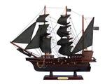 Wooden Blackbeards Queen Annes Revenge Model Pirate Ship 20in.