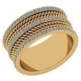 Certified 1.08 Ctw Diamond VS/SI1 14K Yellow Gold Band Ring Made In USA
