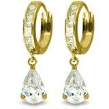 5.7 Carat 14K Solid Gold Under Fire Cubic Zirconia Earrings
