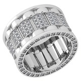 Certified 1.04 Ctw Diamond VS/SI1 14K White Gold Band Ring Made In USA