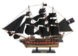 Wooden Blackbeards Queen Annes Revenge Black Sails Limited Model Pirate Ship 26in.