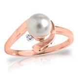 1.01 Carat 14K Solid Rose Gold Ring Natural Diamond pearl