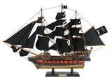 Wooden Black Barts Royal Fortune Black Sails Limited Model Pirate Ship 26in.