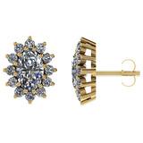 Certified 1.50 CTW Round Diamond 14K Yellow Gold Earring