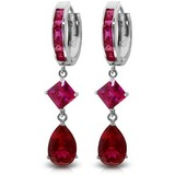 7.72 CTW 14K Solid White Gold My Muse Cubic Zirconia Earrings