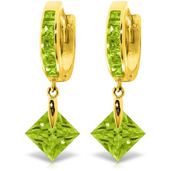 7.58 CTW 14K Solid Gold Marlena Green Zirconia Earrings