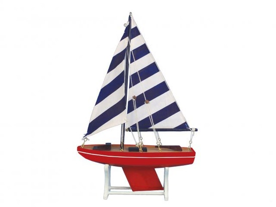 Wooden It Floats American Captain Model Sailboat 12in.