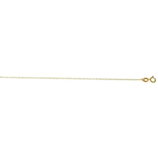 Solid 14K Yellow Gold Boston Chain 030 16in. Metal Weight: 1.7 gr 1.2 mm